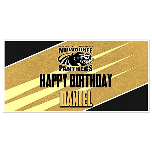 Wisconsin Milwaukee College Football Birthday Banner Party Decoration Backdrop for $<!--$22.50-->