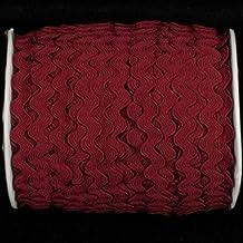 "Burgundy Woven Edge Rick-Rack Craft Ribbon 0.25"" x 55 Yards"