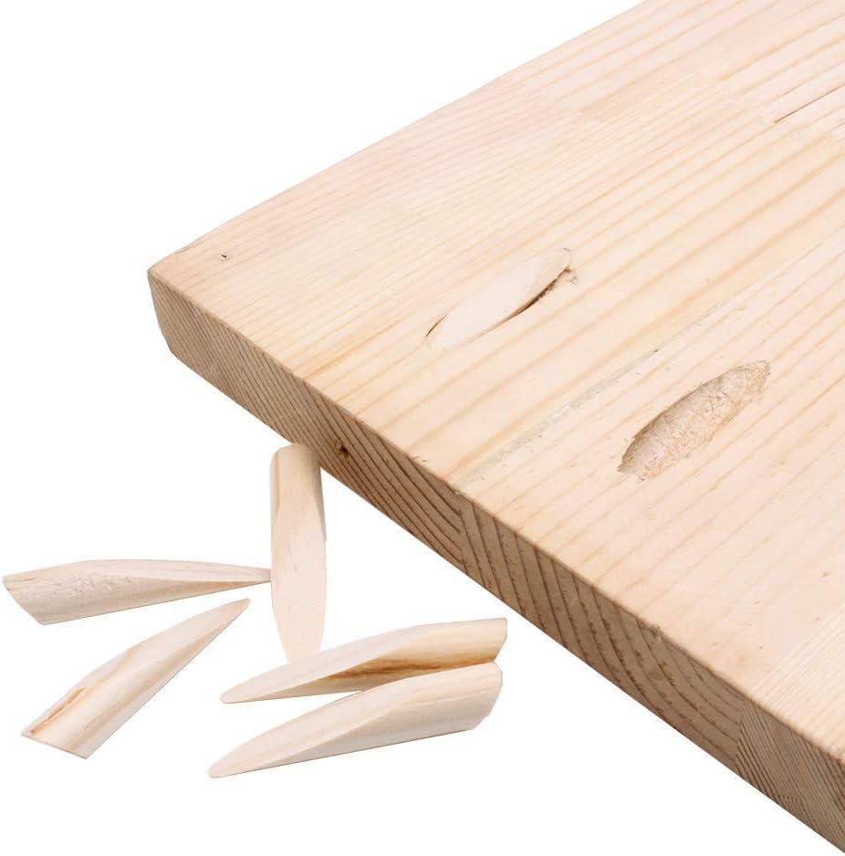 100 AUTOTOOLHOME Solid Wood Pocket Hole Plugs Pine for Pocket Hole Jig Woodworking Tool