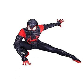 Niño Adulto Negro Spiderman Cosplay Disfraz Fiesta de ...