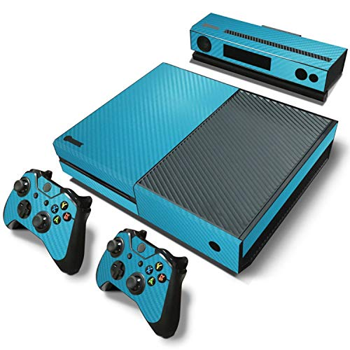 Carbon Fiber blue Vinyl Decal Skin Sticker Cover Forfor Microsoft for Xbox One GameConsole For Controller Kinect,