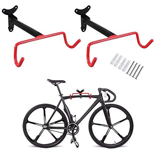 PHUNAYA Bike Hanger 2pcs Wall Mount Bike Hook Horizontal Foldable Bicycle Holder for Garage Bike Storage Bicycle Hoist Heavy Duty, with Screws by PHUNAYA