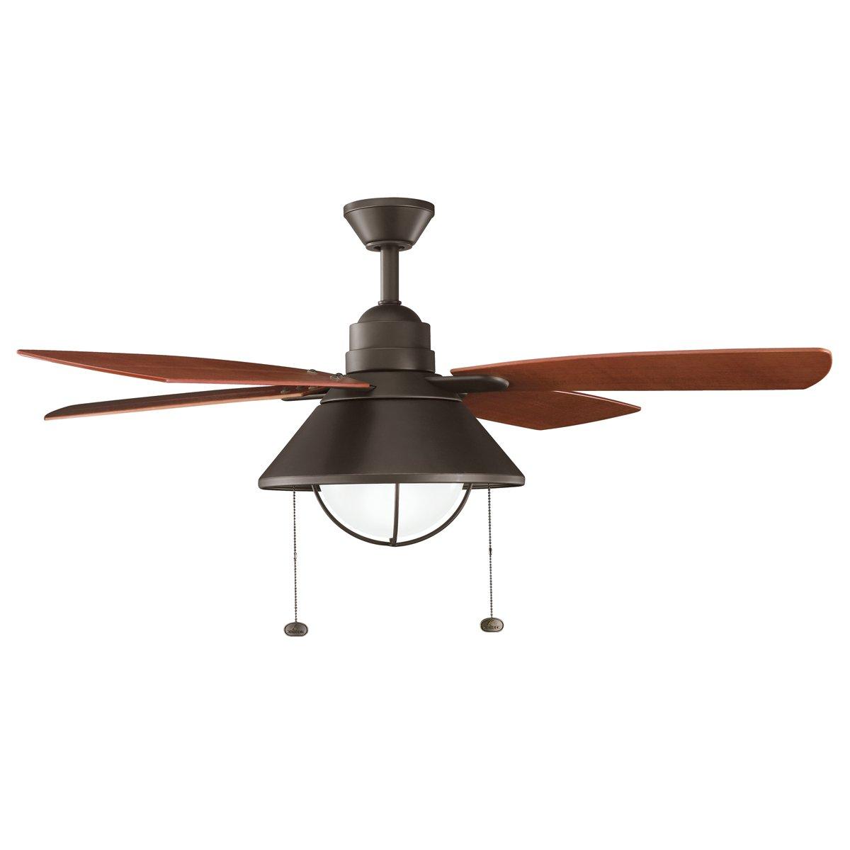 Kichler OZ 54 Ceiling Fan Close To Ceiling Light