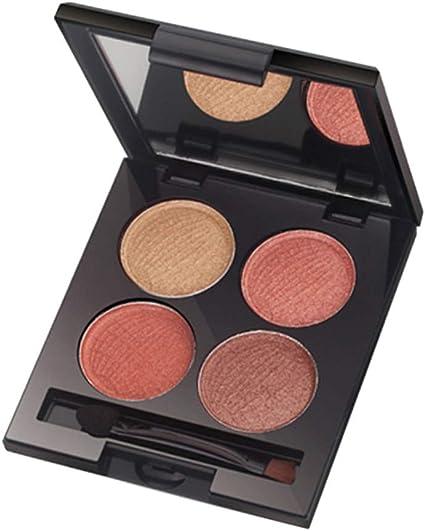 IYU_Dsgirh La paleta de sombras de ojos 4color Shadow Dish Makeup Brown Matte Pearl Light Sombra de ojos: Amazon.es: Belleza