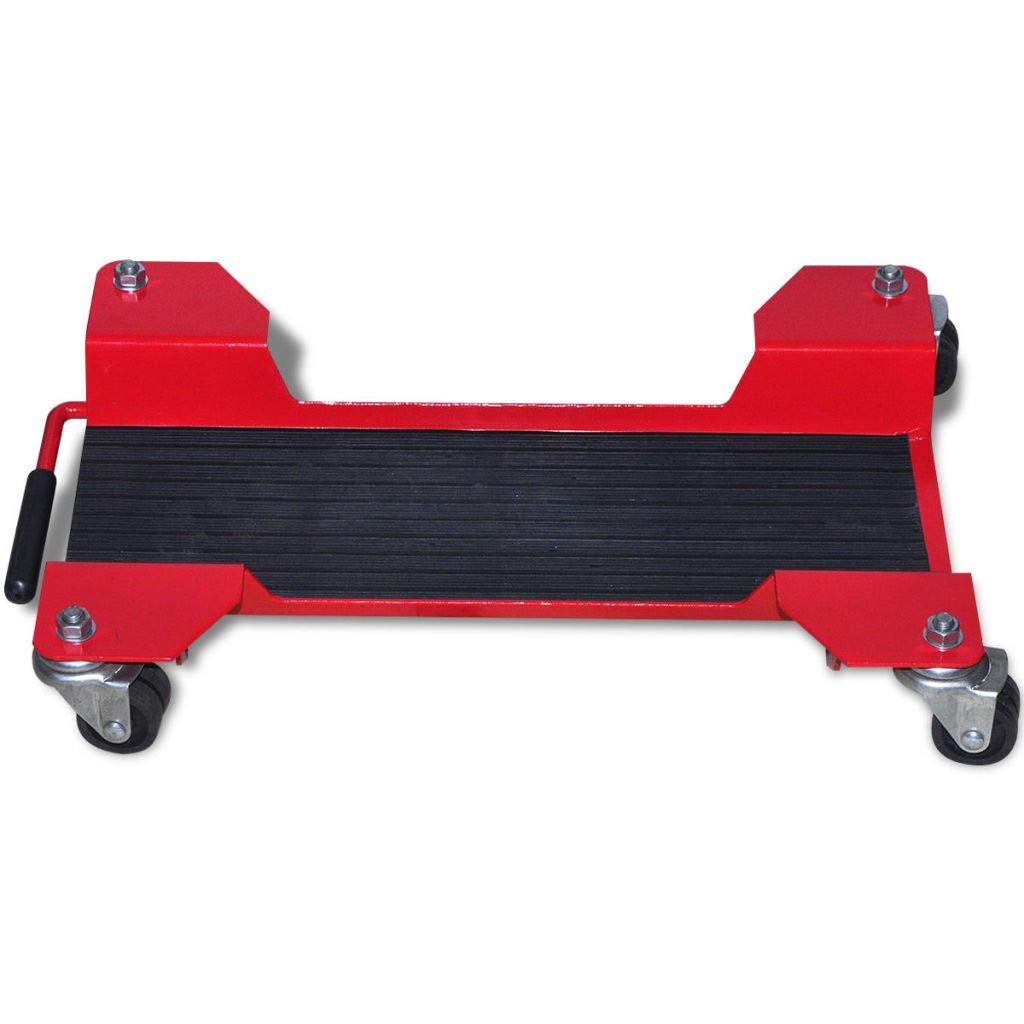Mewmewcat Motorbike Falling Protection Motorcycle Dolly Centre Stand Red