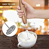 Bonsenkitchen Electric Milk Frother, Automatic Foam Maker for Coffee, Lattes, Cappuccino, Hot Chocolate, Perfect Gift for Coffee Lovers