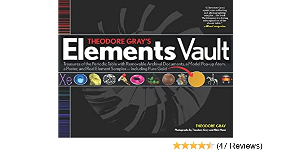 Theodore grays elements vault treasures of the periodic table with theodore grays elements vault treasures of the periodic table with removable archival documents and real element samples including pure gold urtaz Choice Image