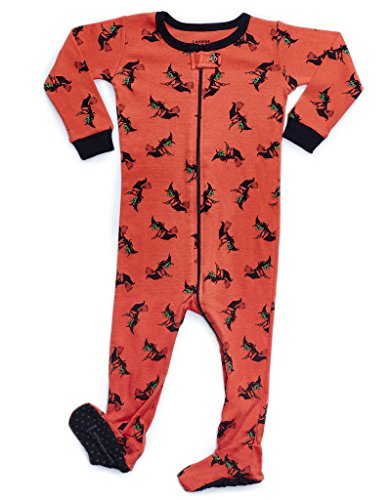 Leveret Kids Witch Baby Boys Girls Footed Pajamas Sleeper Haloween Pjs 100% Cotton (Size 6-12 -