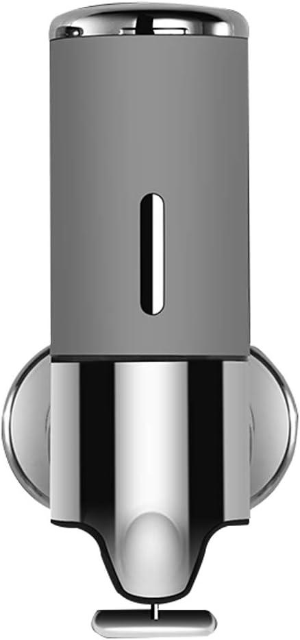 2 botellas de pl/ástico PET altas de 500 ml con dispensador de jab/ón blanco y plateado