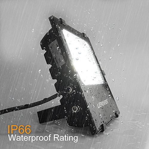 LEPOWER 2 Pack 20W LED Flood Light, Super Bright Outdoor Work Light, 100W Halogen Bulb Equivalent, IP66 Waterproof, 6500K,1600lm, Outdoor Led Lights(Daylight White 2-Pack) by LEPOWER (Image #4)