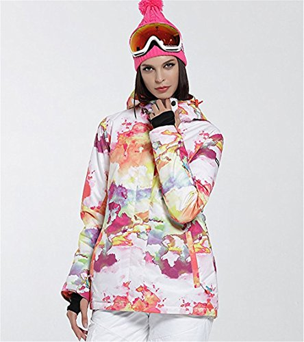 Women's High Breathable Waterproof and Windproof colorful Snowboard Printed Ski Jacket by RIUIYELE (Image #5)
