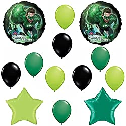 Green Lantern Party Birthday Balloon Decoration Set