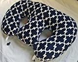 Twin Z Pillow + 1 Designer Navy Lattice + FREE Travel Bag!