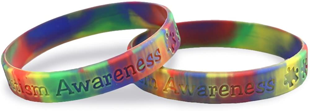 Fundraising For A Cause   Autism Awareness Silicone Bracelet – Inexpensive Asperger's & Autism Awareness Rubber Wristband
