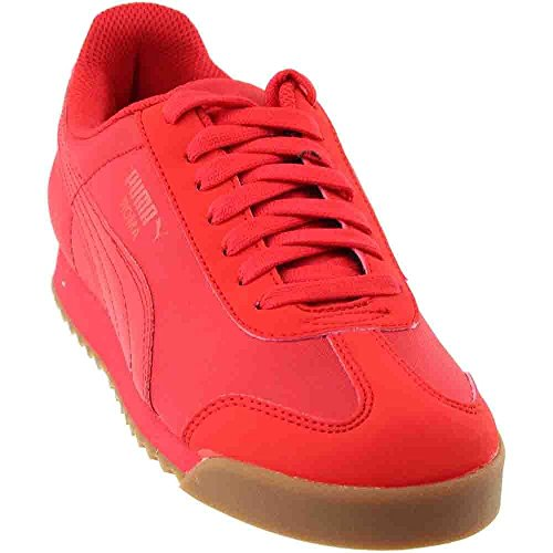 (Puma Roma Basic Summer Jr Big Kid's Shoes High Risk Red 359841-10 (6 M US))