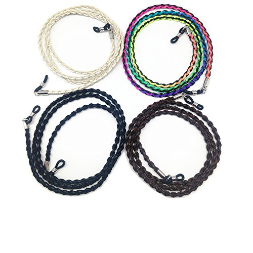 4 pcs Eyeglass Chain Sunglass Holder Strap Lanyard Eyewear Cord Glasses Holder