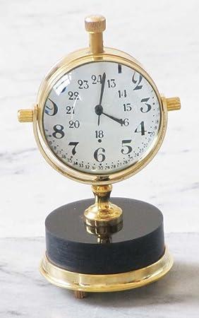 Magicaldeco Shiv sakti Enterprises reloj de mesa de diseño náutico de sobremesa latón decorativo Coleccionable de reloj infantil con mecanismo de forma ...