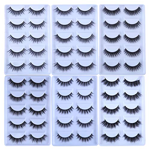 (MB 5 Pairs Mink Eyelashes NEW 3D Mink Lashes Thick Handmade Full Strip Fake Lashes Makeup MB-E38)