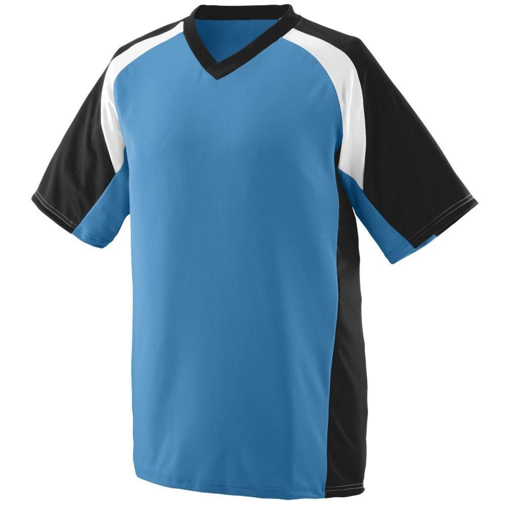 Augusta SportswearメンズNitro Jersey B00HJTN7IW X-Large|Columbia Blue/Black/White Columbia Blue/Black/White X-Large