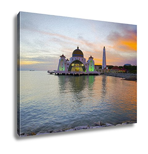 Ashley Canvas Majestic View Of Malacca Straits Mosque During Sunset 16x20 by Ashley Canvas