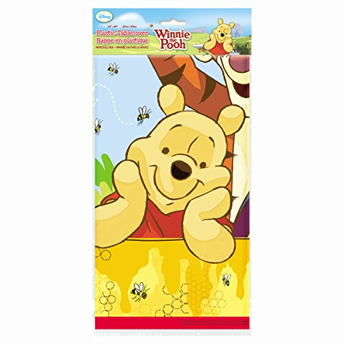 Winnie the Pooh & Pals Plastic Table Cover, (Winnie The Pooh Baby Shower Decorations)