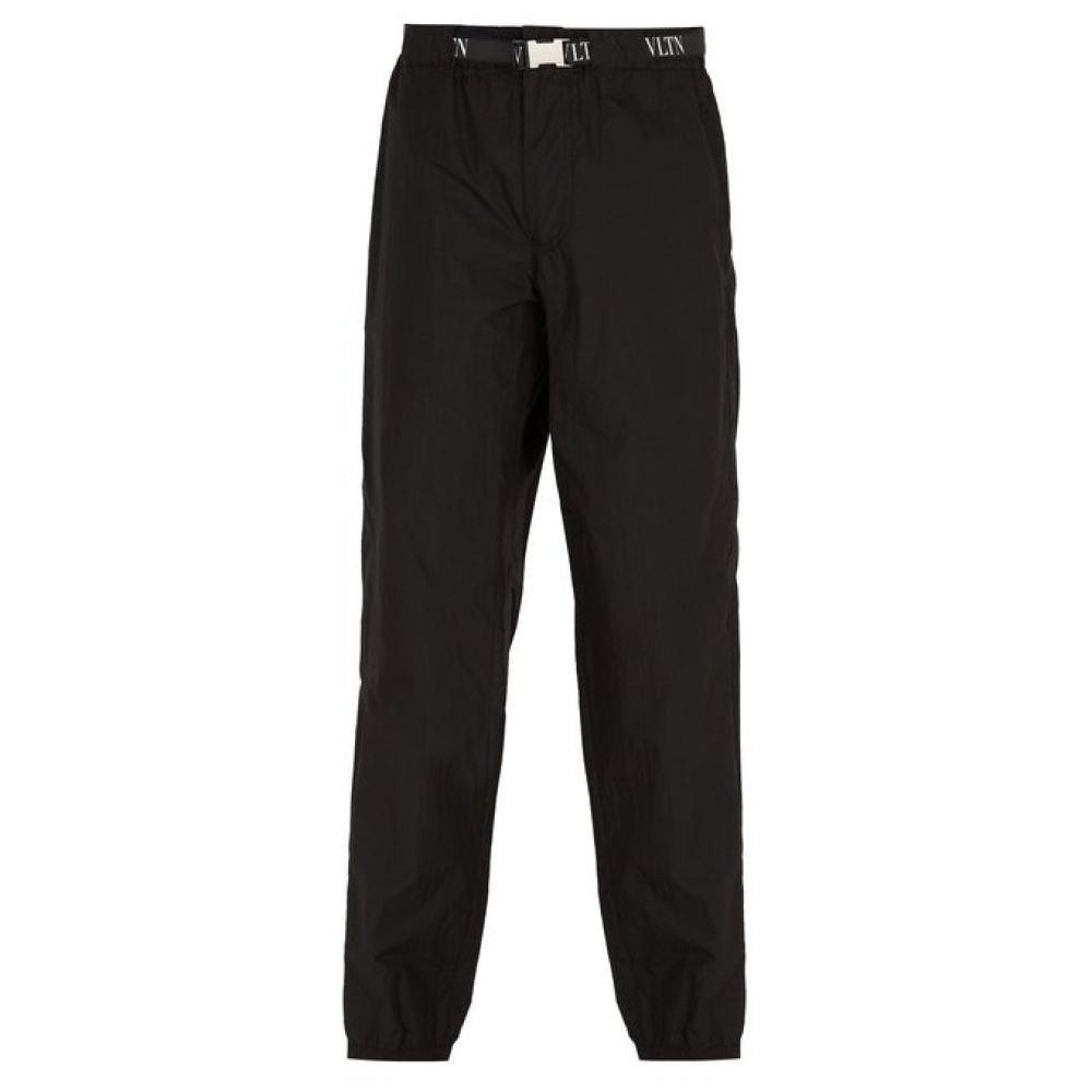 (ヴァレンティノ) Valentino メンズ ボトムスパンツ VLTN logo-jacquard belt trousers [並行輸入品] B07FD6M8R3 44EU-IT