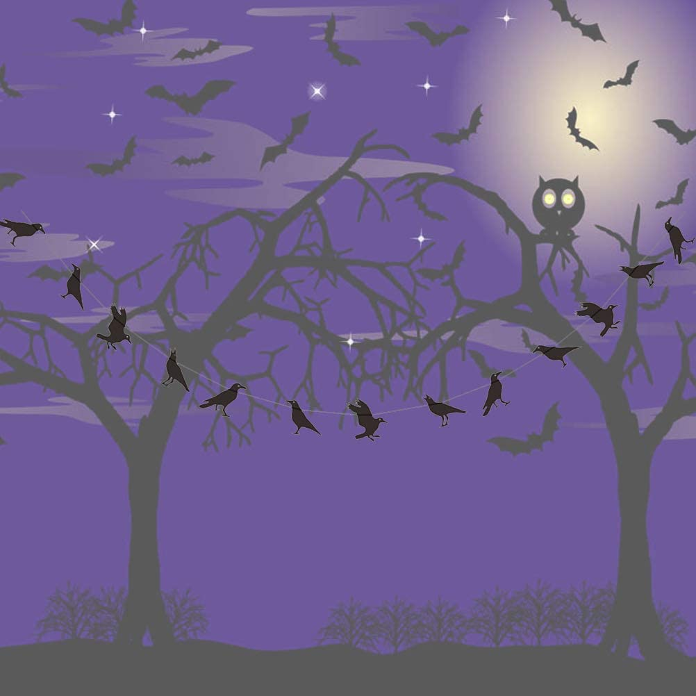 Halloween Decoration Crows Banners Hanging Garlands Party Favors Supplies Decoration