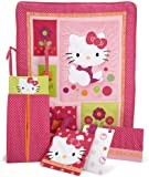 Lambs & Ivy Hello Kitty Garden 5 Piece Set, Raspberry (Discontinued by Manufacturer)