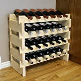 Creekside 24 Bottle Short Scalloped Wine Rack (Pine) by Creekside – Easily stack multiple units – hardware and assembly free. Hand-sanded to perfection!, Pine For Sale