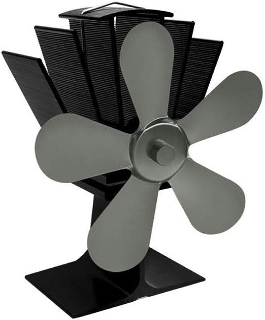 AOHMG Ventilador para Estufa Ventilador accionado por Calor, Quema de Madera Ventilador Estufa Madera/Quemador de leña/Chimenea Distribución eficiente del Calor,Green: Amazon.es: Hogar