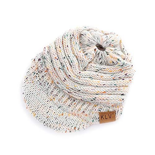 Snapback Colorido Hecho Tinto Sombrero Sombrero Cola Dabixx de Knitted Women's Sombrero Cap Vino Baseball de Visor Hair Bun Blanco Caballo Punto Ta1751q