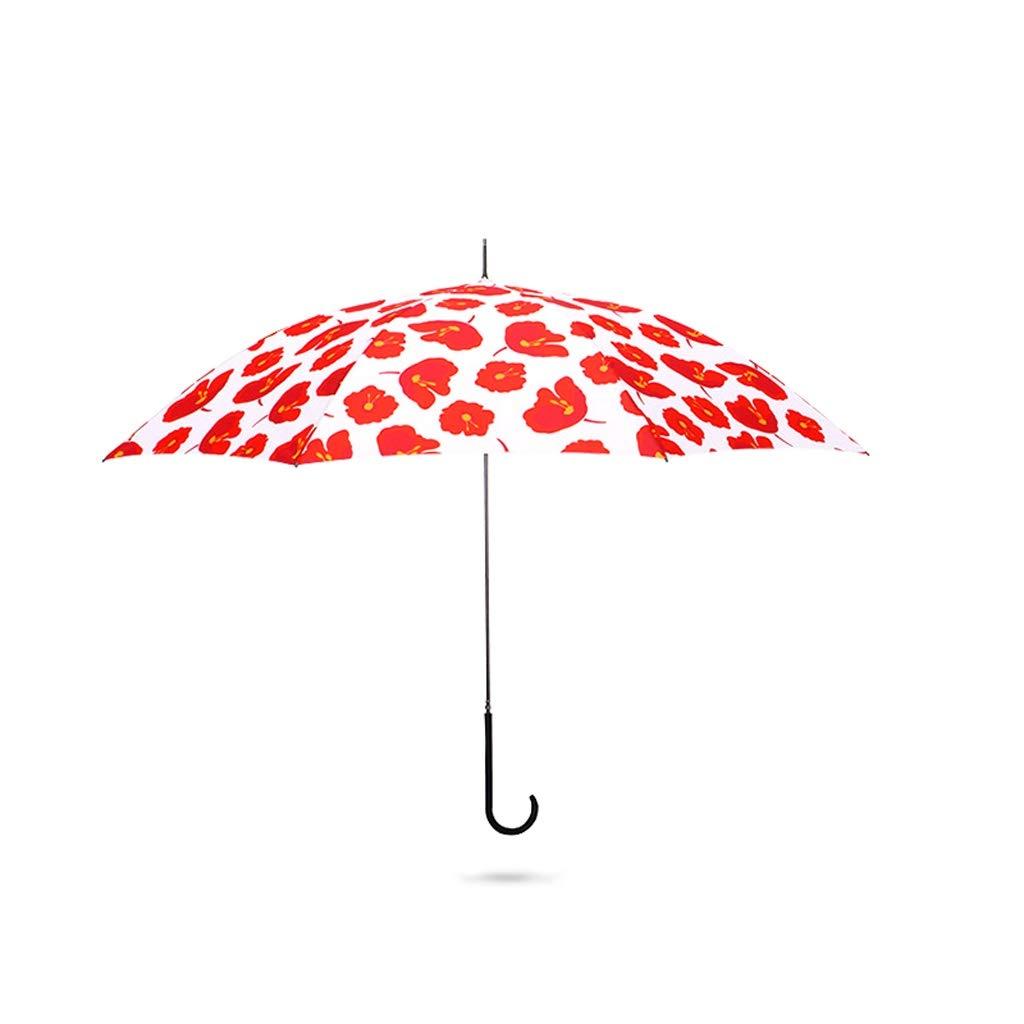 傘UVプロテクションサンプロテクションロングハンドルアンブレラ雨と雨ストレートハンドルロングアンブレラフェアリーアンブレラアンブレラ QIQIDEDIAN (Color : C) B07SF5HHP2 C