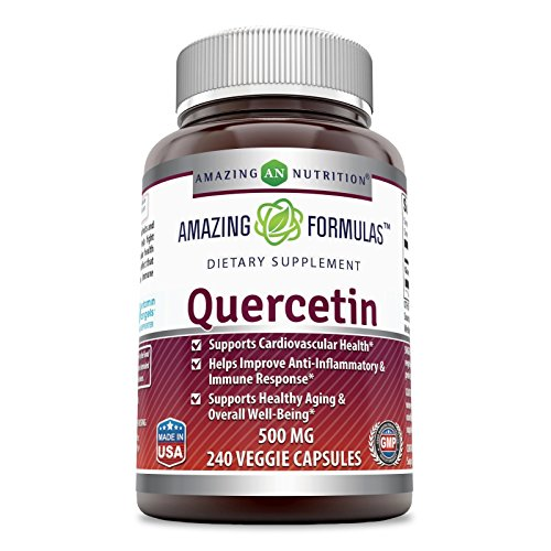 Amazing Formulas Quercetin - 500 Mg, 240 Veggie Capsules - Supports Cardiovascular Health - Helps Improve Anti-Inflammatory & Immune System - Supports Healthy Aging & Overall Health.