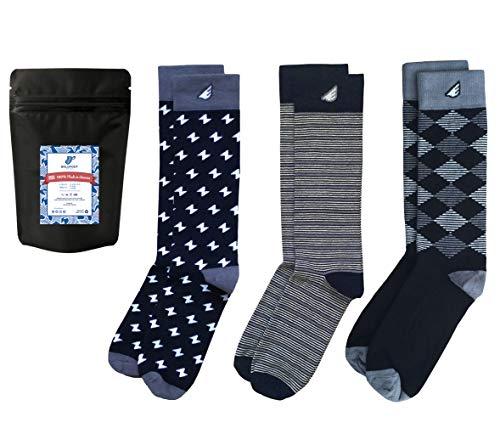 Mens Formal Black White Dress Socks Fun Tuxedo Gift 3-Pack Awesome, Made in USA,Formal Black & White,US Men 8-13, Women - Decorative Housing
