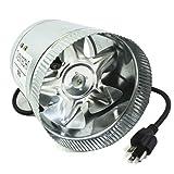 VenTech VT DF-6 DF6 Duct Fan, 240 CFM, 6