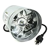 VenTech VT DF-6 DF6 Duct Fan, 240 CFM, 6'