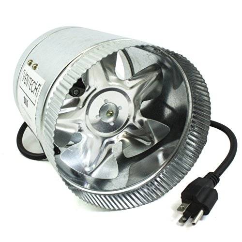 VenTech VT DF-6 DF6 Duct Fan, 240 CFM, 6""