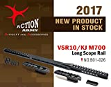 Action Army B01-026 VSR10/M700 Long Scope Rail - Aluminum CNC for Tokyo Marui VSR10 /Well MB02/KJ M700 (Taiwan)