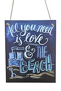 All You Need is Love and The Beach - Cartel de tiza de ...