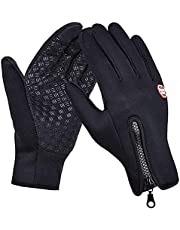 Winter Gloves for Men & Women, Waterproof Touch Screen Anti-slip Gloves Windproof Thermal Sports Gloves for Running Cycling Hiking Driving Climbing