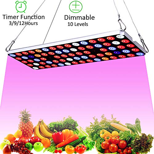 JCBritw LED Grow Light Plant Growing Lamp for Indoor Plants Full Spectrum Dimmable with Timer Function 30W LED Plant Light for Seedlings Veg and Flower