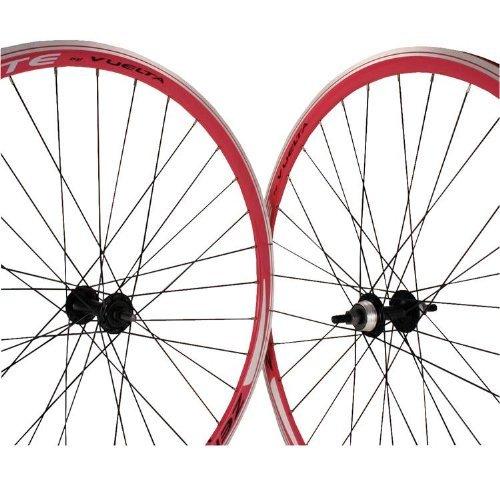 Vuelta ZeroLite Track Comp 700C Wheel Set (Pink) by Vuelta