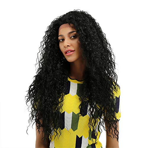 """nt Wigs for Women 28"""" Long Black Wig 130% Density Light Weight Futura Synthetic Fiber,Natural Daily Use Hair Party Halloween ()"""