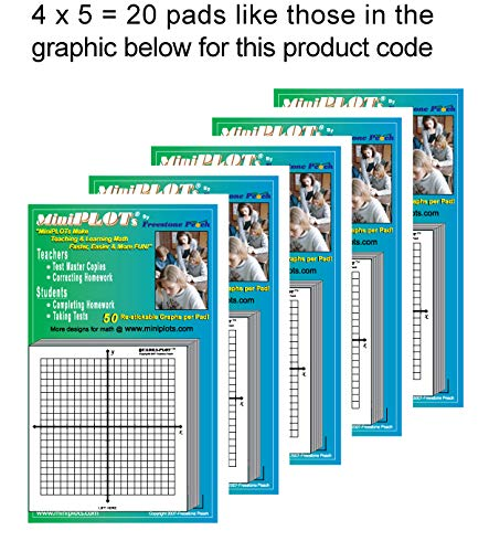 MiniPLOT Graph Paper: 20 pads of 3x3'' pre-printed Sticky Notes. Pads contain 50 sheets of releasable adhesive backed XY axis coordinate grid paper. Use for homework, taking notes in class. by MiniPLOTs