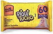 Toalhas Umedecidas Premium com 60 Unidades, Piquitucho