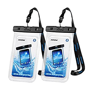 Waterproof Phone Case[2Packs], Mpow IPX8 Waterproof Phone Pouch Dry Bag with Portable Lanyard for iPhone XS max/XS/XR/X/8/7 plus, Samsung and Other Phones up to 6.5″, Perfect for Beach, Hiking, Travel