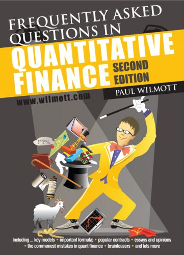 Frequently Asked Questions in Quantitative Finance PDF