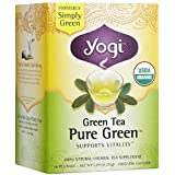 Pack of 1 x Yogi Tea Pure Green - Green Tea - Contains Caffeine - 16 Tea Bags