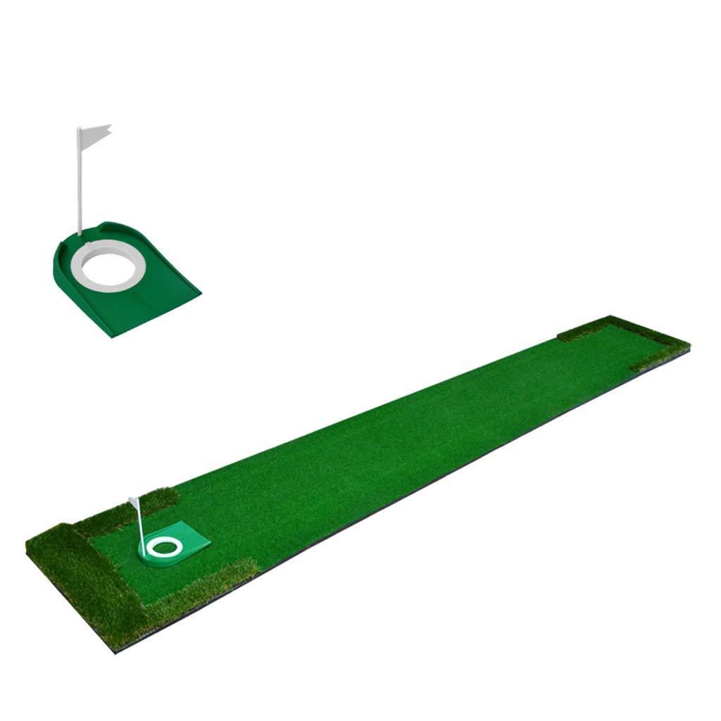 プラスチックコップの穴 - 48cm * 300cmが付いているJXXDQ屋内ゴルフパッティング練習毛布ゴルフグリーン   B07GGY7HPB