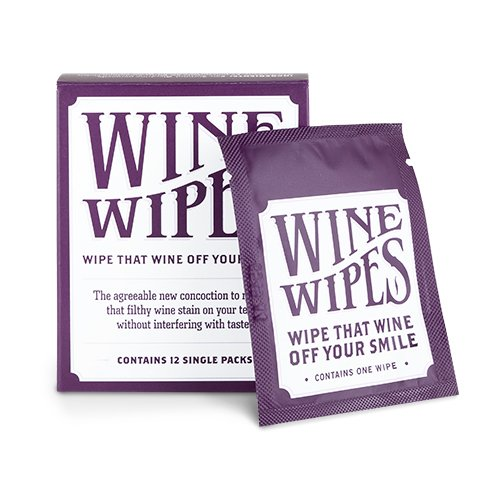 (True Wine Stain Removing Wipes 2-inch White, 12-Pack)
